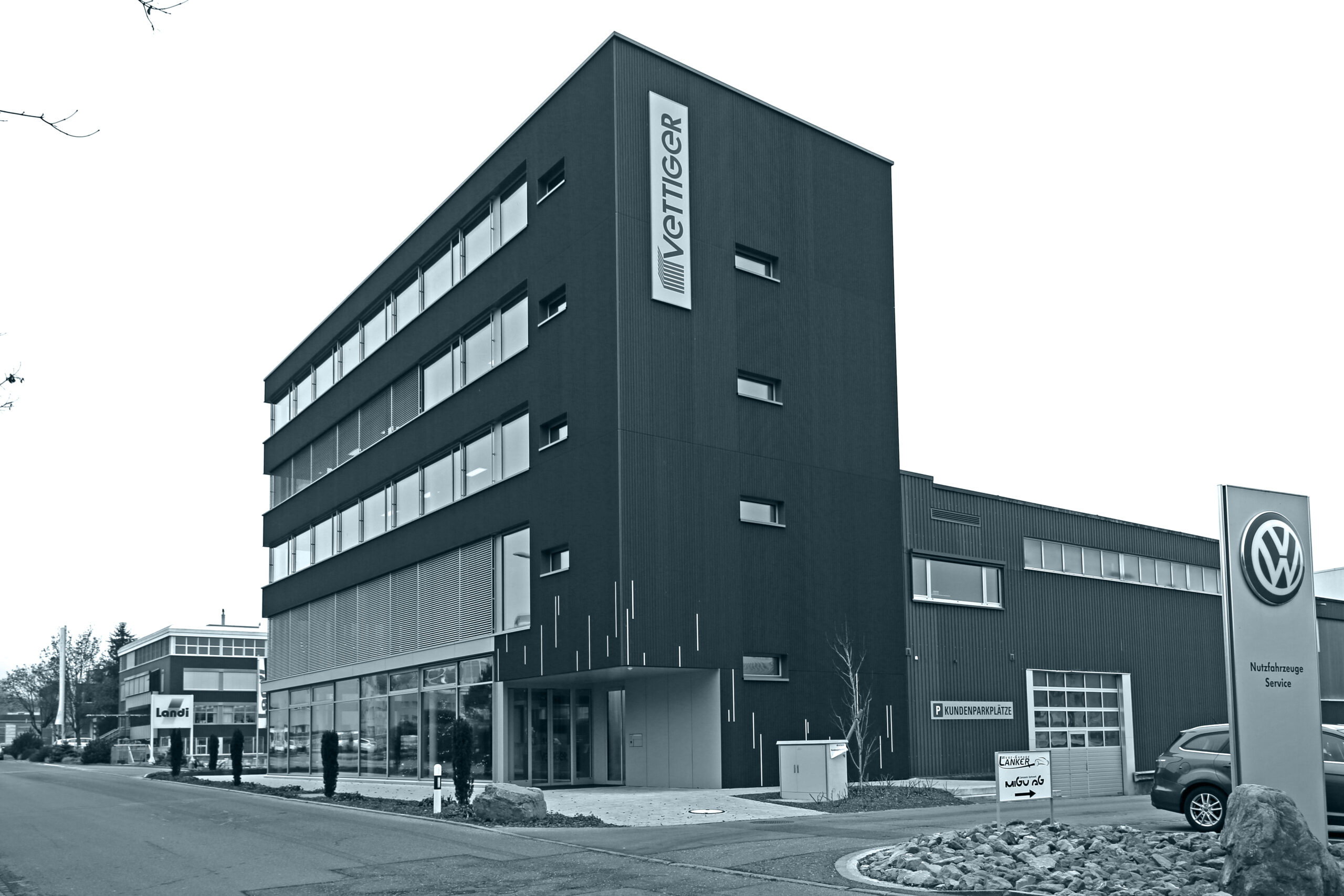 Erweiterung Neubau Bürogebäude Vettiger Oberbüren